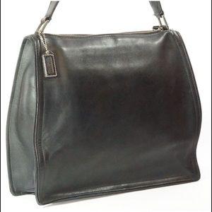 Coach Shoulder Bag Black Leather Vintage Bag